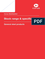 Corus Steel - Stock Range & Specifications