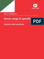 Corus Steel - Stock Range & Specifications