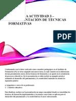 Evidencia Actividad 3 – Implementación de técnicas formativas
