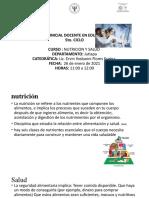 Introducción a La Nutrición y Salud.