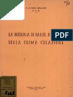 La Dottrina Di Dante Alighieri Sulla Prima Creazione Di P. Attilio Mellone