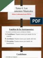TEMA 4 -Los Instrumentos Musicales