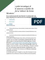 La Fiscalía Pide Investigar El Contrato de Asesora a Sueldo de Podemos de La
