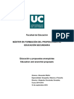 Alexandre Mullet. Educación y propuestas anarquistas