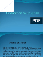 Orientation to Hospitals