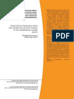Transconstitucionalismo - Limites e Possibilidades Para Efetivação Dos Direitos Humanos Fundamentais - Humanidades e Inovação