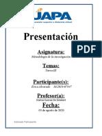 TAREA 3 DE METODOLOGIA DE LA INVESTIGACION 1
