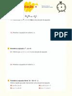 Mat 8 PT TA 6 Equações literais e Sistemas de duas equações