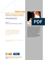 Berklee Music Publishing Overview
