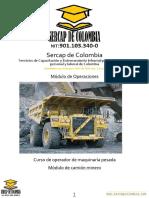 Modulo de Operaciones - Camion Minero