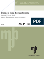 Belaieff - List of Works