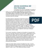Las Consecuencias Económicas Del Bloqueo Contra Venezuela