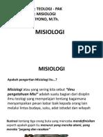 MISIOLOGI