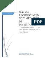 GUIA 14 RECONOCIMIENTO Y MEDICION DE INVENTARIOS