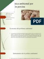 Problemática ambiental por producción porcina