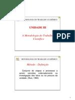 2008-08-14 Metodologia do Trabalho Academico III