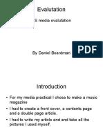 dannys media evaluation