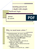 Augmenting perceived color depth