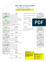 Preliminary NASD calendar