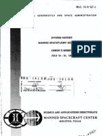 Manned Spaceflight Experiments Gemini 10 Mission Interim Report