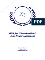 MDR, Inc.'s R&D Joint Venture Operating Agreement
