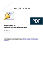 Windows Home Server Technical Brief - Remote Access