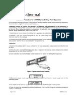 Calibration Cole Parmer Melting Point Apparatus
