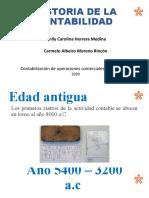HISTORIA DE LA CONTABILIDAD ..