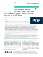 Prevalence of color blindness among school children in three primary schools of Gish Abay town district, Amhara regional state, north west Ethiopia