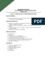 GUÍA No 1. INTRODUCCIÓN A LAS MEDICIONES ELÉCTRICAS