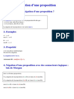 Négation d'une proposition _logique_