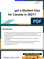 Student Visa for Canada in 2021