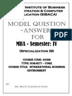 403 Ib Ibe Model Q&A