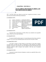 CHAPTER 38 C Powers of Police to Arrest, Procedure of Arrest, And Documentatio (1)
