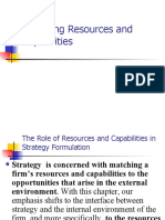 Analyzing Resources and Capabilities