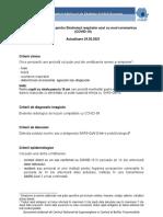 Definitii de Caz Si Recomandari de Prioritizare a Testarii Pentru COVID-19_Actualizare 24.02.2021