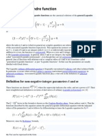 Associated Legendre function