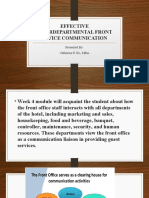 Effective Interdepartmental Front Office Communication