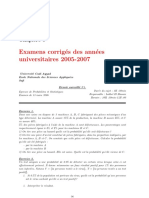 Examens corrigés Proba Mr Lakhel 2005-2007