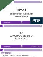 TEMA 2 CLASIFICACIÓN DE LA DISCAPACIDAD