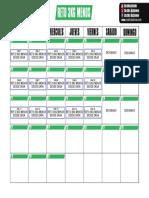 Calendario Reto 3KG MENOS (MARZO)