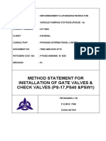 Valves Installation Method Statements