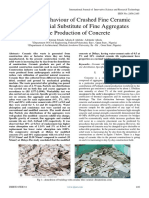 Structural Behaviour of Crushed Fine Ceramic Tiles as Partial Substitute of Fine Aggregates in the Production of Concrete