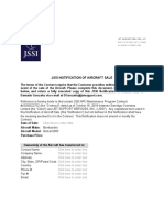 JSSI - notification of aircraft sale