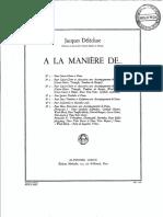 464187838 Jacques Delecluse a La Maniere de No 3 Score and Parts