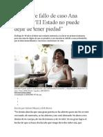 Juez sobre fallo de caso Ana Estrada