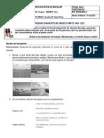 Prueba diagnóstica C. Sociales 4.1 - 2021