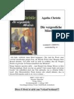 _Christie, Agatha - Die vergessliche Mörderin