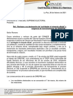 Carta TSE Direpre