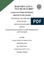 El manejo del protocolo sanitario en el cantón Naranjal durante el estado de emergencia